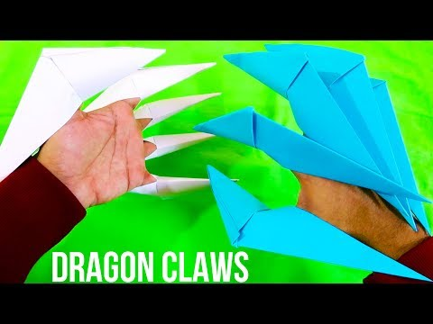 How to make Paper Dragon Claws - Paper Claws
