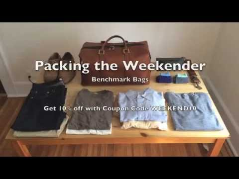 Packing the Benchmark Bags Leather Weekender Bag