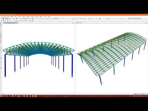 CURVED ROOF TRUSS/BARREL ROOF TRUSS MODELING IN SAP2000
