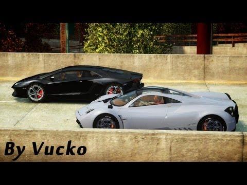 GTA IV - Supercar Drag [Pagani Huayra vs Lamborghini Aventador]
