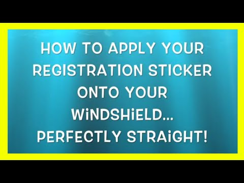 How to apply your registration sticker onto your windshield perfectly straight, with Glenn Colton
