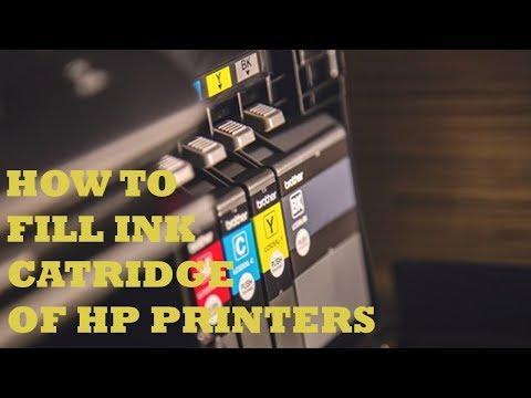 How To Fill Ink Cartridges HP 300/301 - 300xl/301xl HP Desk jet 2542