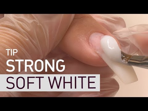 STRONG SOFT WHITE. Nail extension on TIP