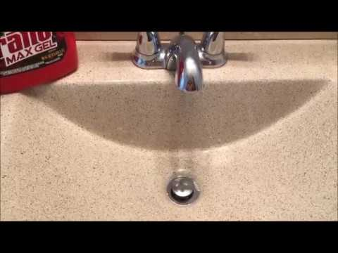 Does Drano MAX GEL work? How to unclog a sink.