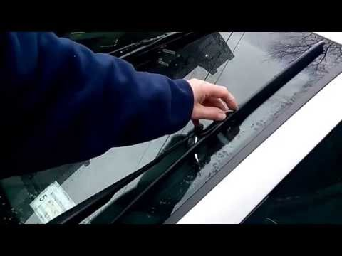 HOW TO replace HYUNDAI SONATA windshield wipers blades