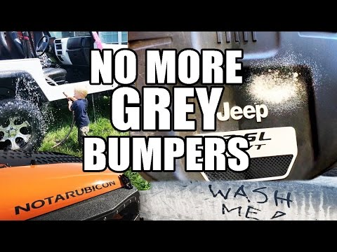 How To Keep Jeep Fenders and Bumpers Black and Clean