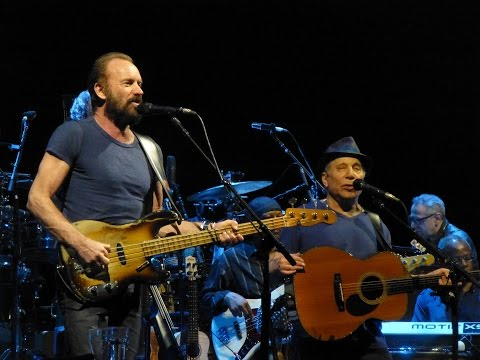 Paul Simon & Sting - Mother And Child Reunion 50 Ways To Leave Your Lover - Brisbane, Australia 03 F