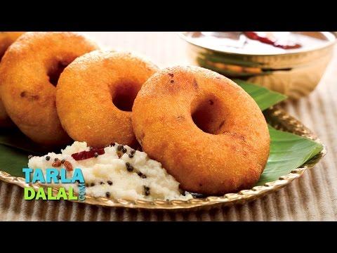 Medu Vada, South Indian Medu Vada Recipe  by Tarla Dalal