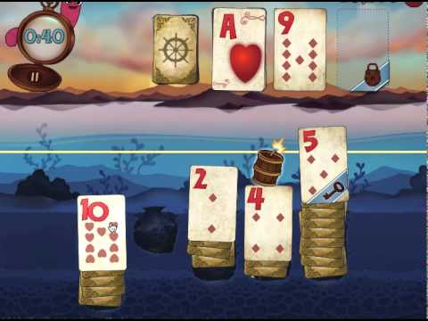 Solitaire Blitz Level 1 - Part 1 Lost Treasures (Chest of Gems)