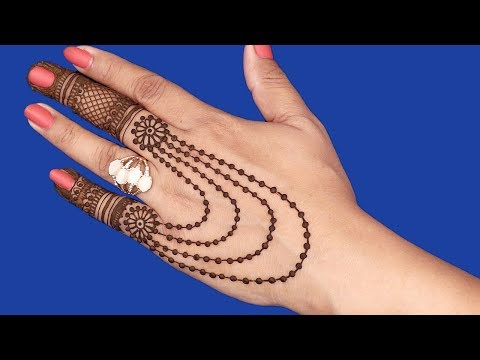 Simple and Beautiful Mehndi Design for Hands | Jewelry Mehndi Design #97 @ jaipurthepinkcity
