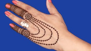 Simple and Beautiful Mehndi Design for Hands | Jewelry Mehndi Design #97 @ jaipurthepinkcity