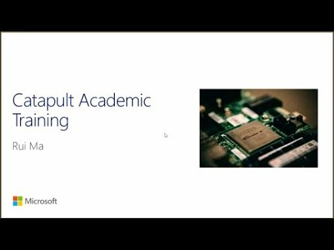 Project Catapult Academic Tutorial