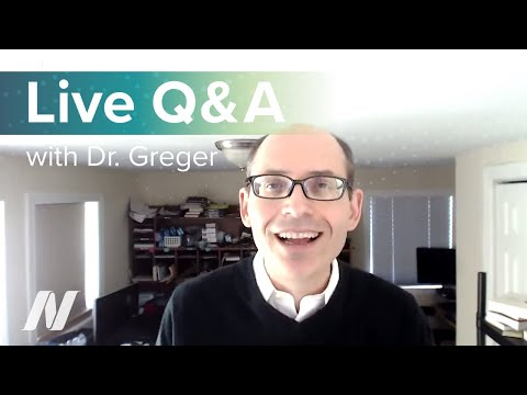 Live Q&A with Dr. Greger of NutritionFacts.org on April 26th at 2 pm ET.