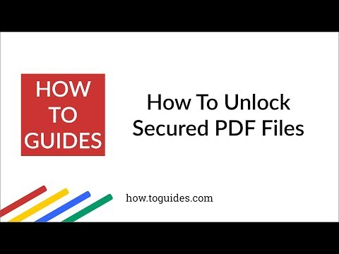 How to Unlock Password Protected PDF Without Password - How.ToGuides com