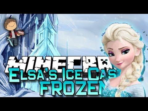 Minecraft: FROZEN ELSA'S ICE CASTLE CHALLENGE! w/Bajan Canadian & Friends!
