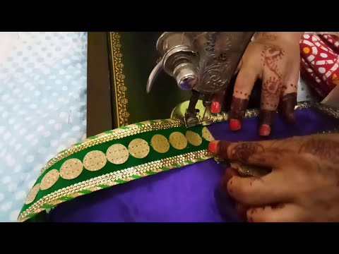 How to make half and half saree in diwali special