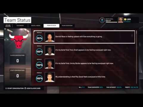 NBA 2K15 Team Chemistry