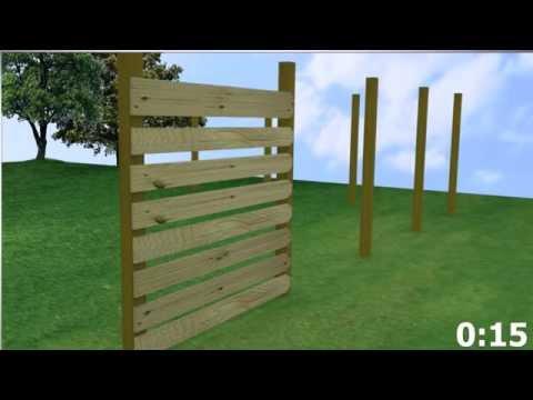 Horizontal Wood Fence (Meek's In Under A Minute)