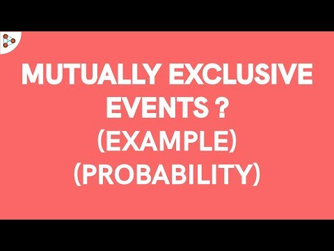 Probability - Mutually Exclusive Events Example