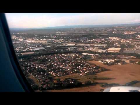 A320 Landing in Marseille airport Air France Airbus A320