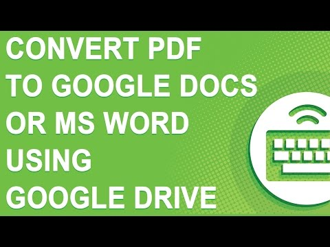 Convert PDF to Google Docs or MS Word using NEW Google Drive (NO YOUTUBE ADS)