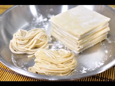 Egg Noodles and Egg Wonton Sheets (Ba Mee Kai with Pan Gieaw Kai)