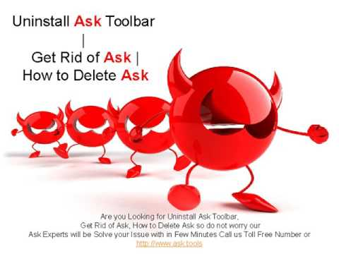 Remove Ask Toolbar from Internet Explorer, Chrome, Firefox
