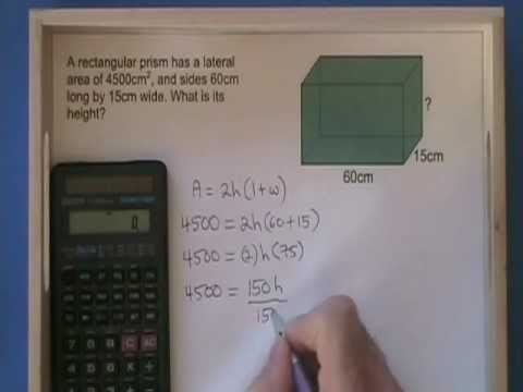 Lateral Area of a Rectangular Prism
