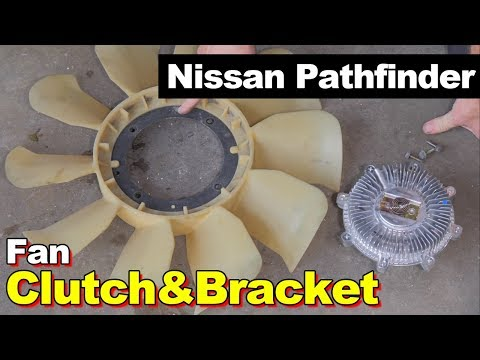 2006 Nissan Pathfinder Fan Clutch & False Water Pump Bracket