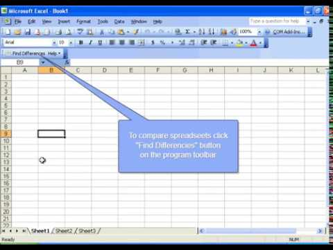 Compare Spreadsheets for Excel easily