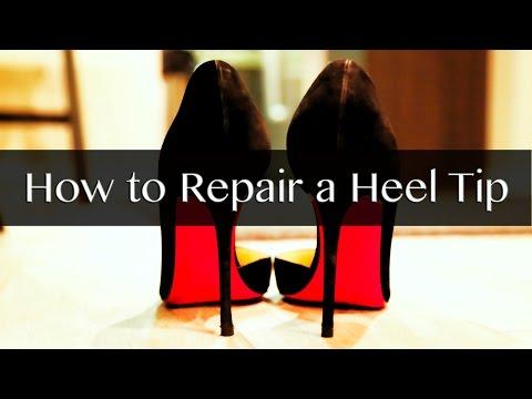 How to Repair a Heel Tip