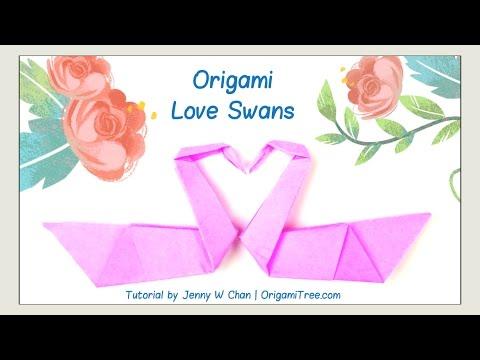 Valentine's Day Crafts - Origami Swan - Love Birds - Origami Bird - Easy Paper Crafts Kids Classroom