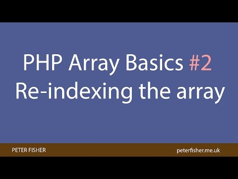 PHP Array: How to reindex the array