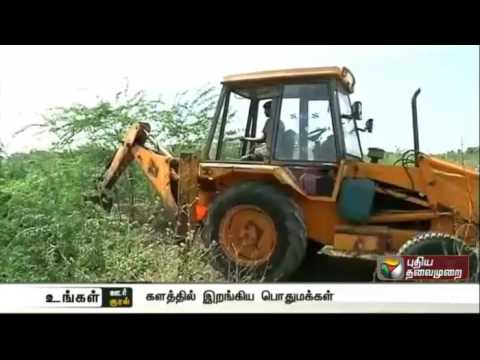 Thorn trees removed to increase ground water level in Madurai