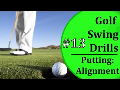 Golf Swing Drills For Beginners - #13: Putting Alignment | Learn-To-Golf.com