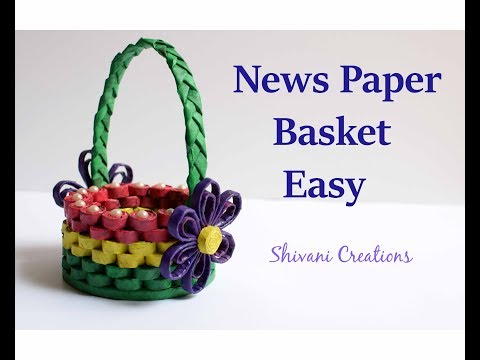 How to make News Paper Basket/ Best out of waste/ Easy Paper Basket