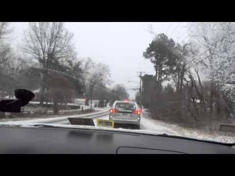 iPhone Time Lapse Driving in snow