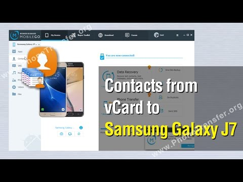 How to Import Contacts from vCard to Samsung Galaxy J7