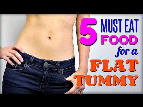 5 Must Eat FOOD for a Flat Tummy (Healthy Digestion)
