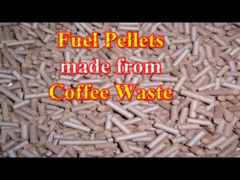 🔴 Fuel Pellets Made From Coffee Grounds (Grinds)