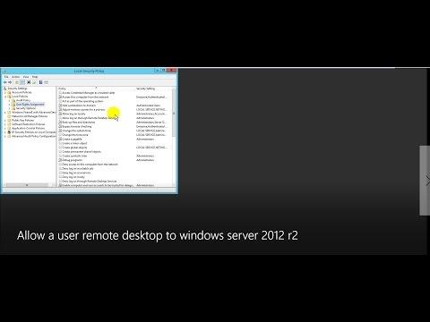 Allow a user remote desktop to domain controller on windows server 2012 r2