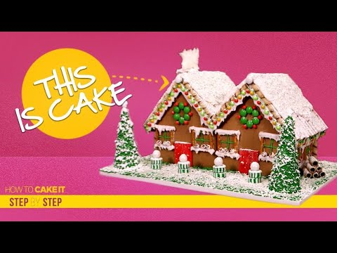 The Ultimate Gingerbread House CAKE | How to decorate Step By Step | How To Cake It | Yolanda Gampp