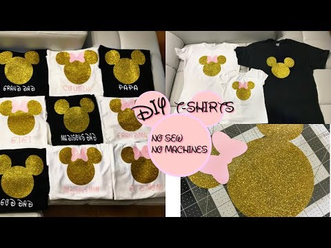 DIY MICKEY OR MINNIE SHIRTS DO IT YOURSELF