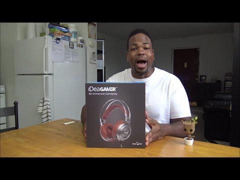 IdeaGamer Virtual 7.1 Surround Sound Headphones w/ Mic UNBOXING!!!