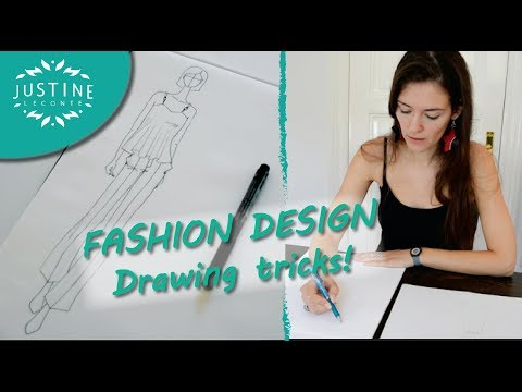 How to draw: fashion designer tricks | Fashion drawing tutorial | Justine Leconte