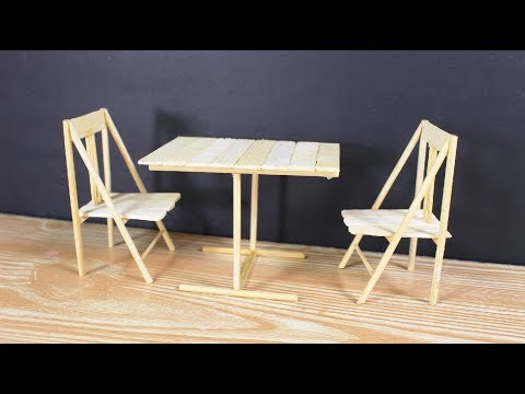 How to Make Miniature Table and Chair at home  | crazyMCH
