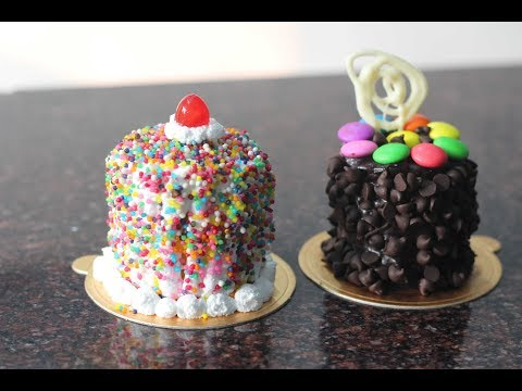 How to make mini cakes @home - very easy steps
