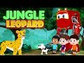 Supercar Rikki Chases The Big Leopard In The Jungle Kids Cars Cartoon Story 03