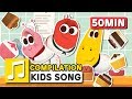 MUFFIN MAN And Other Songs 50 Min LARVA KIDS Nursery Rhyme For Baby Toddler And Kids