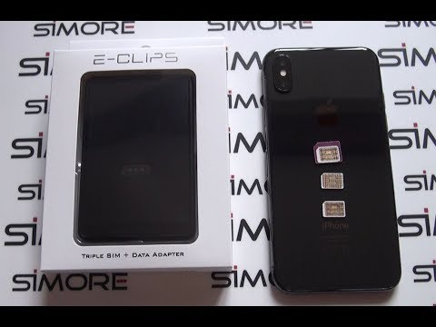 iPhone X Dual SIM - Use 2 or 3 numbers active at the same time on iPhone X - SIMore E-Clips Box